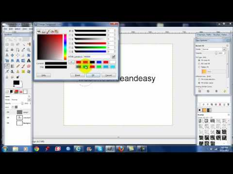 How to make easy logos using GIMP. Beginner tutorial. Customize word press themes