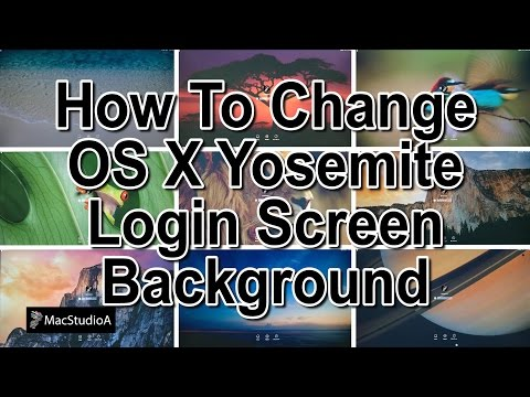 How To Change OS X Yosemite Login Screen Background