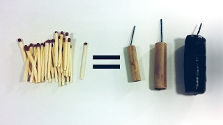 How to Make a Firecrackers using Matches