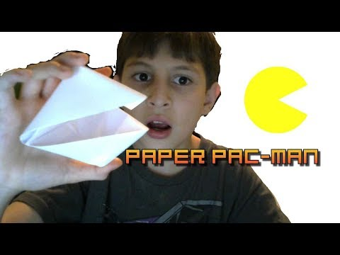 How to make a paper Pac-Man
