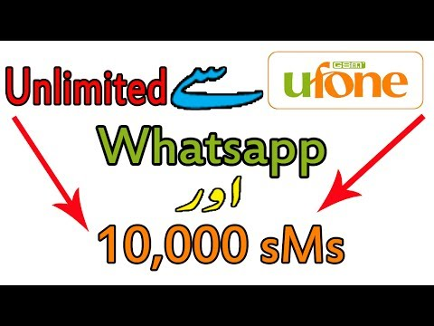Ufone Unlimited Whatsapp and 10,000 sms