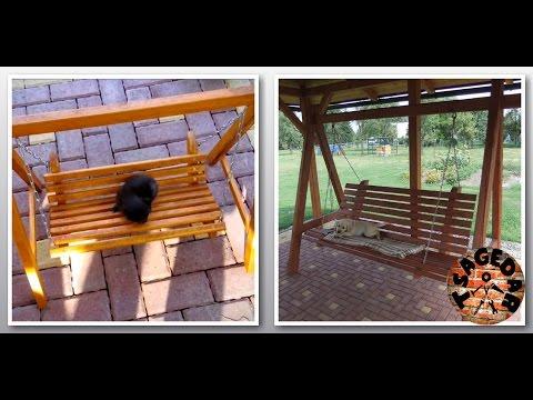 Houpačka - DIY Wooden swing