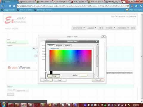Design website header with HTML CSS using ArsslanCMS Online Free