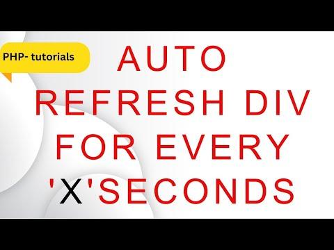 php auto refresh div jquery 3.3.1 interval fetch records mysql