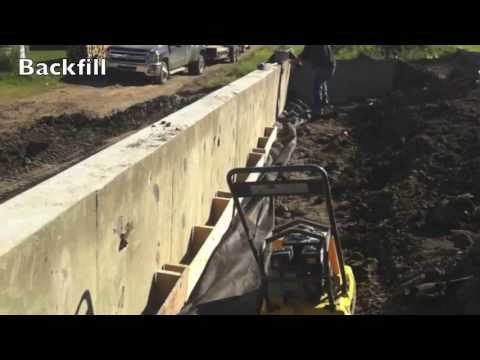 Concrete Retaining Walls To Fence On