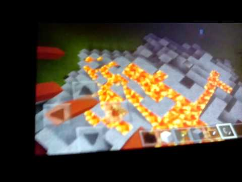 MCPE-How to Build a Volcano Base