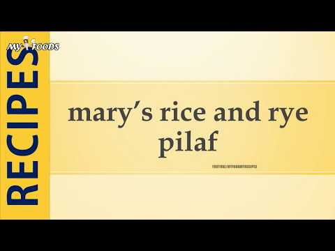 mary's rice and rye pilaf