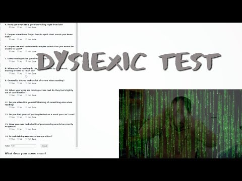 Dyslexia Test (I'm i really dyslexic?!)