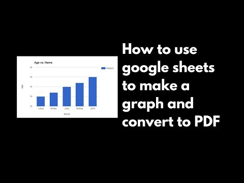 How to use google sheets to make a graph and convert to PDF