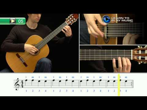 Ex005 How to Play Classical Guitar for Kids - Classical Guitar Lessons for Kids Book 1