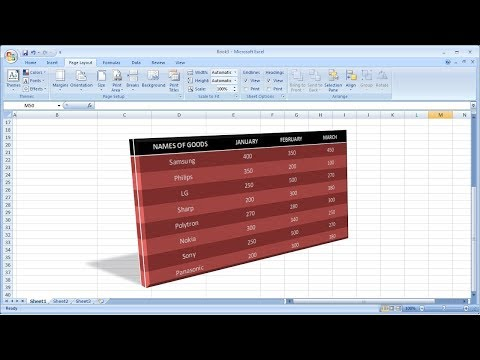 Microsoft excel training |How to Create a 3D Table in Excel
