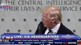 FULL SPEECH: Donald Trump CIA Headquarters Statement FNN