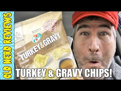 7 Eleven Turkey And Gravy Potato Chips REVIEW 🦃🍠
