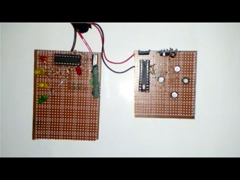 simple wireless using RF moduletransmitter and receiver