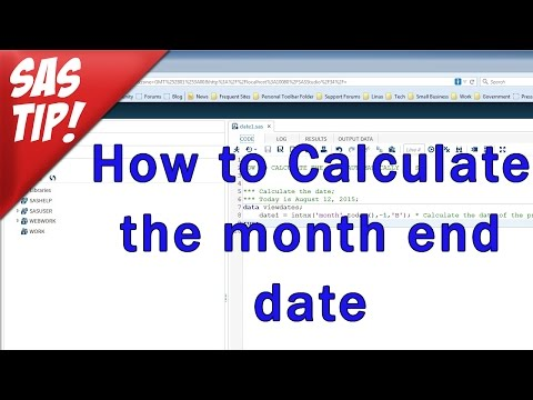 SAS Tutorial - Calculate the month end date