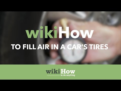 How to Fill Air in a Car's Tires
