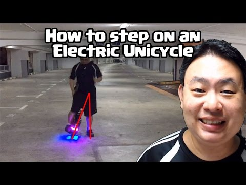 How to step on electric unicycle - Tip 5