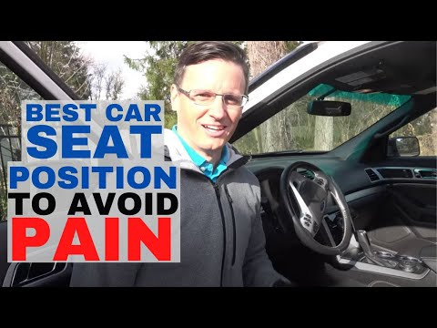Car Seat Position Tips for Better Driving Posture and Less Back Pain