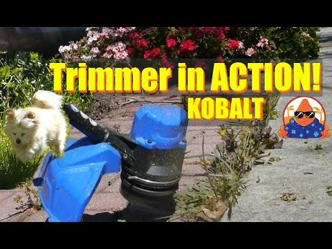 Lowes Kobalt 40Volt WEED GRASS String Trimmer in ACTION  2.5Ah