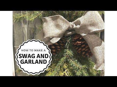 HOW TO MAKE A HOMEMADE SWAG AND GARLAND | CHRISTMAS 2017