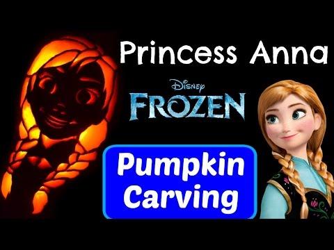 Pumpkin Carving Princess Anna Disney Frozen Princess Pumpkin Carving Ideas