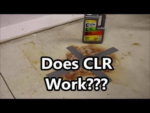 Concrete Rust Stain Cleaning Test 1 of 4: Does CLR Calcium Lime and Rust Work?