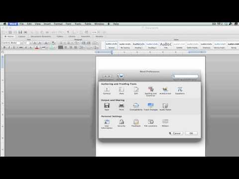 Mac 2011 Word - Enable Form Shading