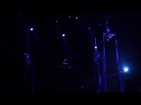 Lindsey performing in aerial silks 2017
