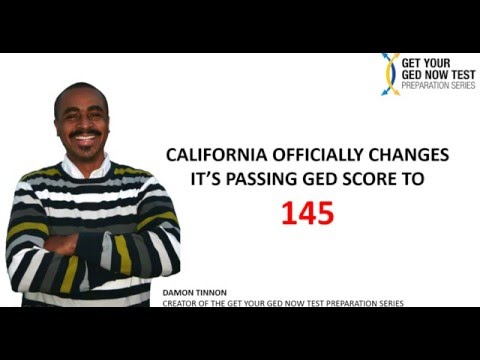 New CA GED Passing Score 2016