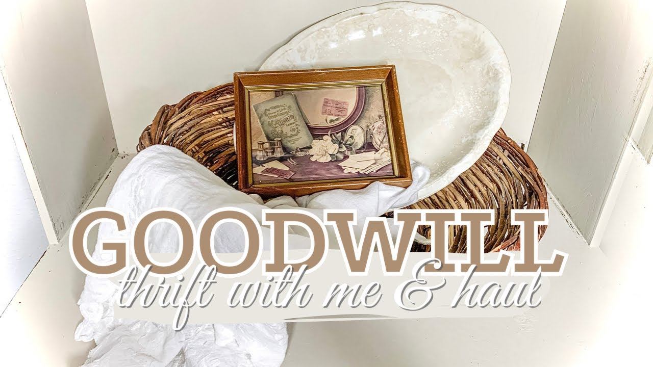 I FOUND ANOTHER BUCKET LIST ITEM! | GOODWILL THRIFT WITH ME & HAUL | Antique Vintage Farmhouse Decor