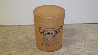 What's Inside Survival 1963 Sanitation Kit?