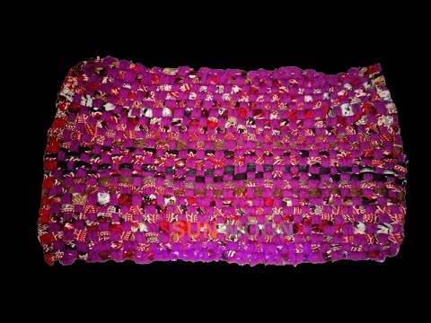 How to make doormat by recycle clothes/Reuse Your Old Clothes to make carpet, table mat, door mat
