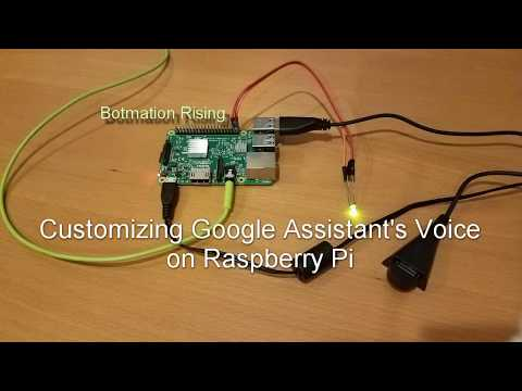 Changing Google Assistant's Voice or Language Accent with PI