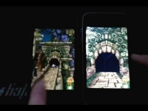iPhone 3G vs iPhone 4s Temple run