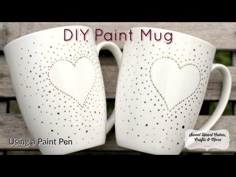 DIY Paint Mug (like the Sharpie Monogram Mug - but better :)