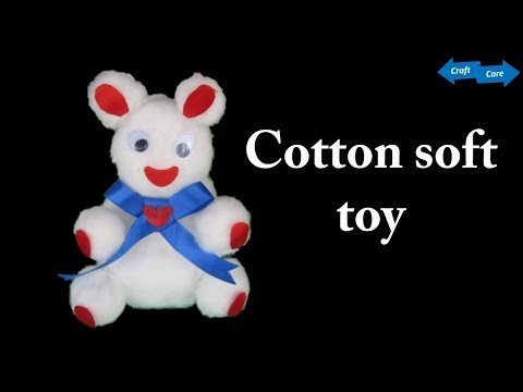 HM Make soft toy with cotton || How to make teddy bear with cotton