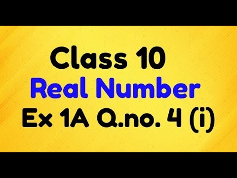Rs Aggarwal Class 10 Real Number Ex 1A Q.no. 4 Solution