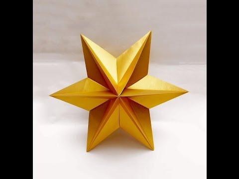 Origami Star  - easy. Ideas for Christmas. Origami  Dominanta Star. Новогодние поделки