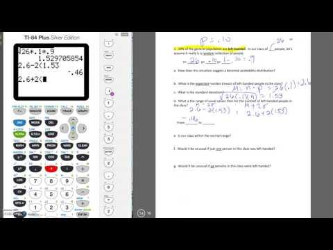 binomial mean and standard deviation