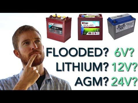Battery Bank Options + Wiring Solar Batteries from 6v to 12v vs 24v