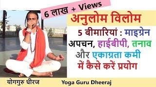 अनुलोम-विलोम प्राणायाम से 5 घातक बीमारियों को करें मैनेज   नाड़ी शोधन प्राणायाम Yoga in HIndi