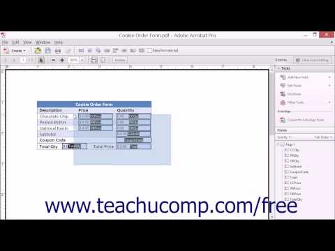 Making Form Fields the Same Size - Adobe Acrobat XI Training Tutorial Course