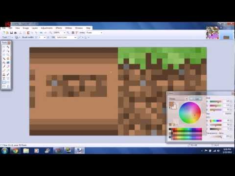 How to make a Minecraft Texture Pack 1 - Grass, Dirt, Bookshelves, and Wooden Planks