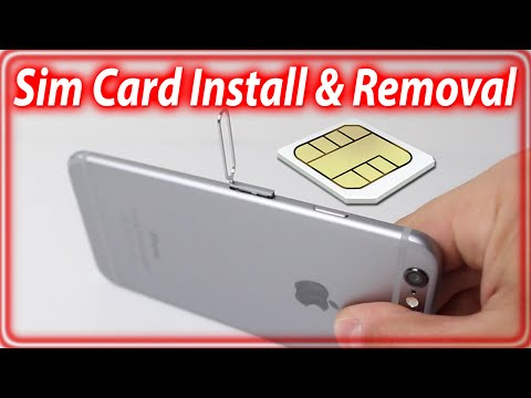 How To Insert/Remove Sim Card From iPhone 6 and iPhone 6 Plus