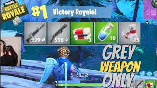GREY WEAPONS ONLY Challenge - Fortnite Battle Royale