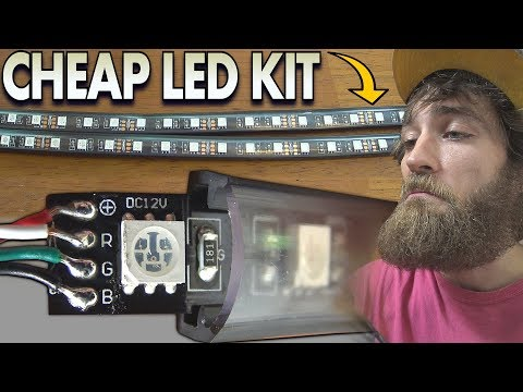 Cheap LED Strips Any Good? Installing $20 Amazon Light Kit that FLASHES TO MUSIC & Smartphone App!