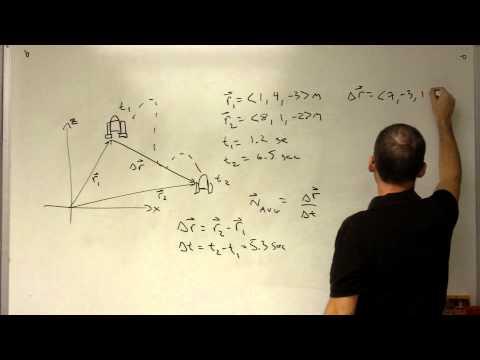 Average Velocity Example