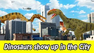 [EN] #85 Dinosaurs showed up in the City, kids education, Dinosaur movie, Collecta figureㅣCoCosToy