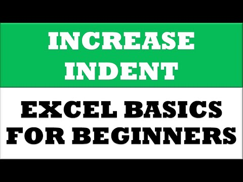 How to Increase Indent for selected cells in MS Excel 2016