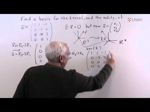 Ch7Pr26b: Kernel and Nullity of a 3x4 matrix